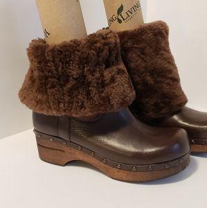 Frye Shoes - Frye Shearling Clog Boot